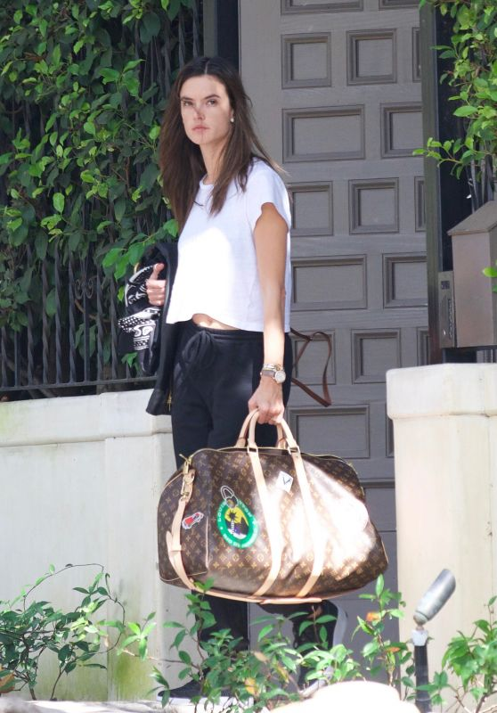 Alessandra Ambrosio - Leaving Her House in Brentwood 10/07/2018