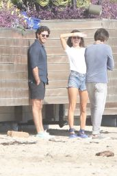 Alessandra Ambrosio on the Beach in Malibu 10/14/2018