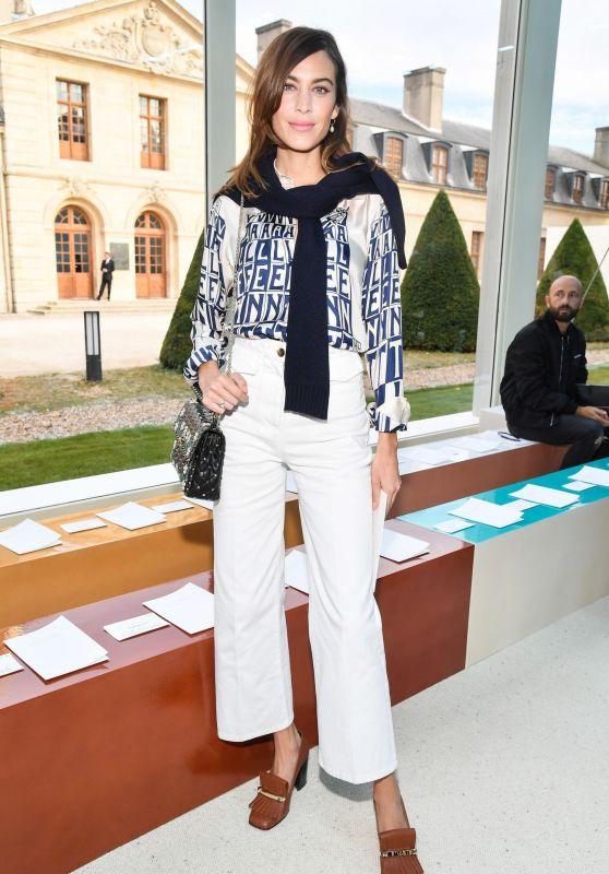 Alexa Chung – Valentino Fashion Show in Paris 09/30/2018