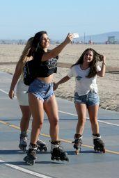 Alexandra Cane Rollerblading in Santa Monica, October 2018