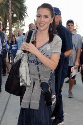 Alyssa Milano - Dodgers VS Red Sox in Los Angeles 10/26/2018