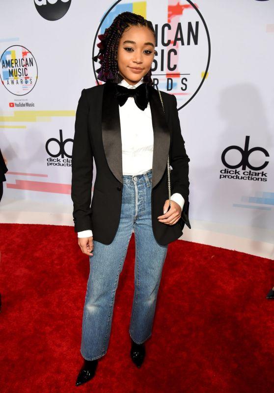 Amandla Stenberg – 2018 American Music Awards in Los Angeles