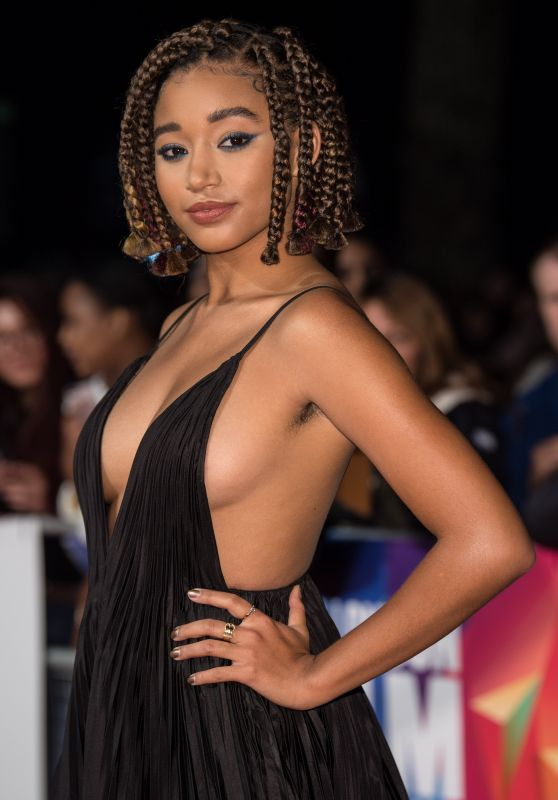"Amandla Stenberg - ""The Hate U Give"" European Premiere at 62nd BFI London Film Festival"