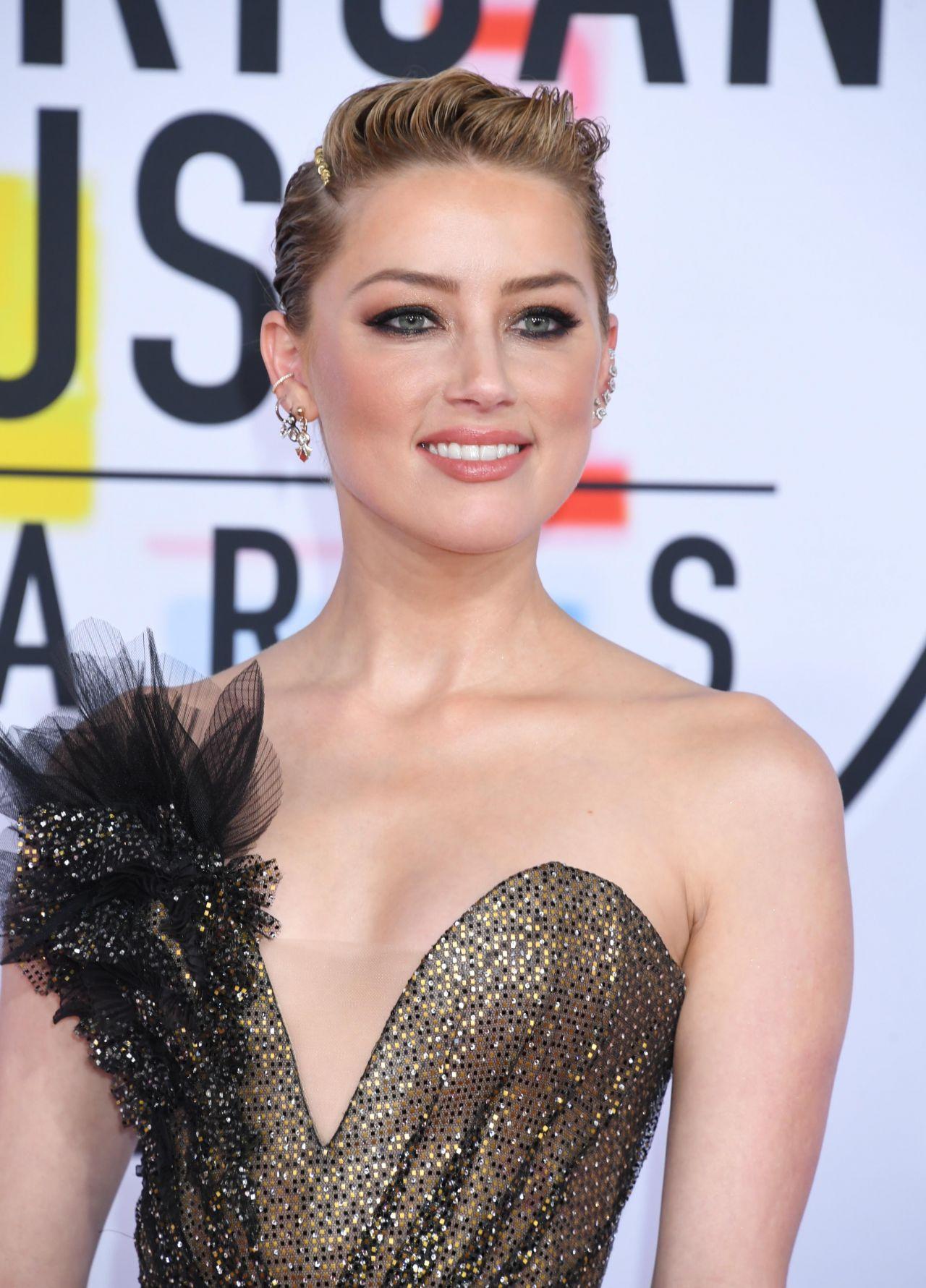 Amber Heard 2018 American Music Awards In Los Angeles