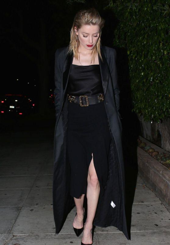 Amber Heard at Matsuhisa in Beverly Hills 10/14/2018