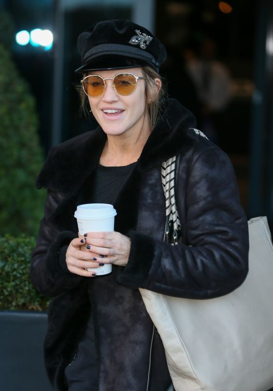 Ashley Roberts - Leaving Hotel for Live Halloween Show in London 10/27/2018