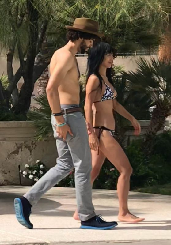 Bai Ling in Bikini on Holiday in Palm Springs 10/12/2018