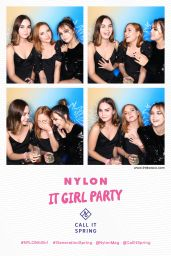 Bailee Madison, Liana Liberato and Haley Ramm – NYLON It Girl Party Photo Booth in Los Angeles 10/11/2018