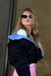 Behati Prinsloo at the Victoria's Secret Offices in NYC 10/30/2018