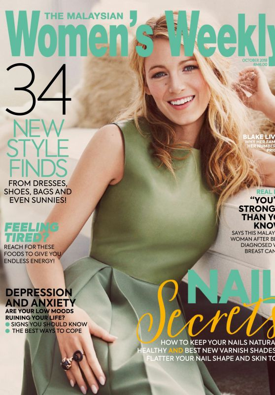 Blake Lively - The Malaysian Womens Weekly, October 2018 Issue