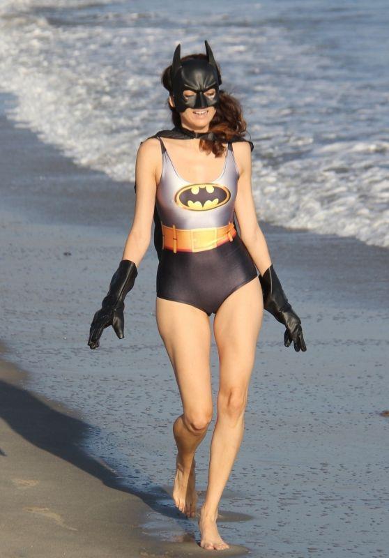 Blanca Blanco is Batwoman - Beach in Malibu 10/30/2018