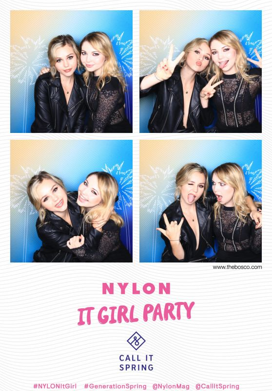 Brec Bassinger and Sammi Hanratty – NYLON It Girl Party Photo Booth in Los Angeles 10/11/2018