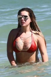 Brielle Biermann in Bikini on the Beach in Miami Beach 10/20/2018