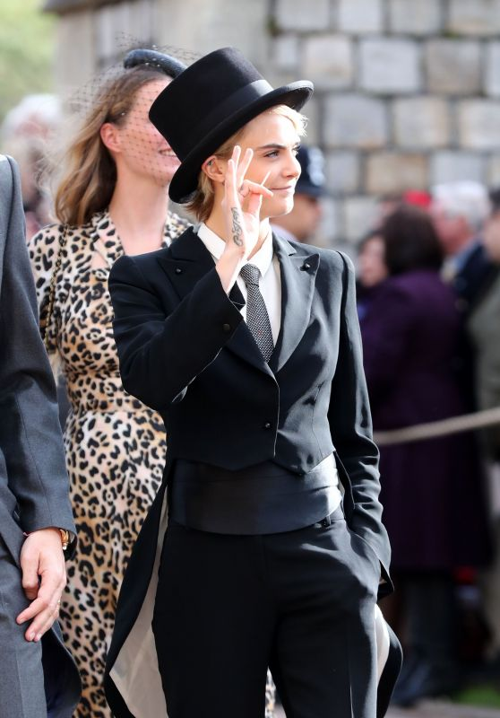 Cara Delevigne - Wedding of Princess Eugenie of York and Mr. Jack Brooksbank