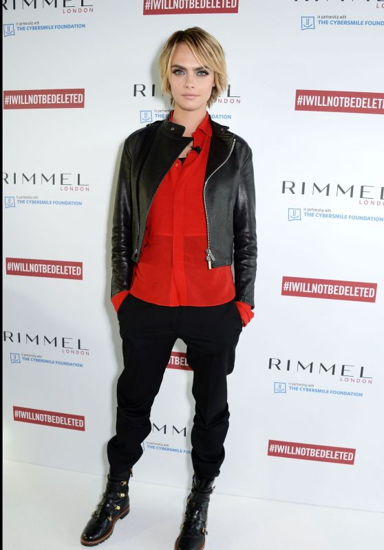 Cara Delevingne - Launch of #IWILLNOTBEDELETED Campaign by Rimmel in London