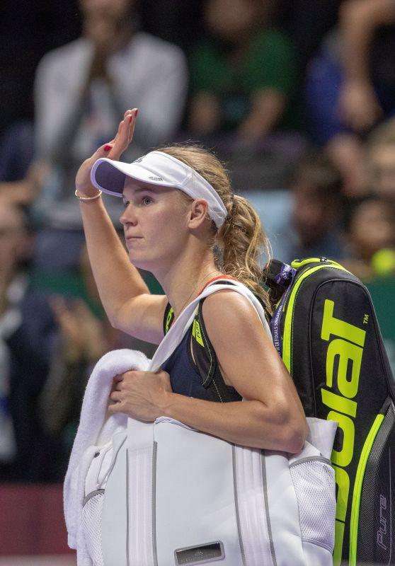 Caroline Wozniacki – 2018 BNP PARIBAS WTA Finals in Singapore 10/25/2018