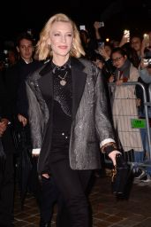 Cate Blanchett Arrives for the Louis Vuitton Fashion Show in Paris 10/02/2018