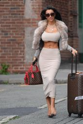 Chloe Khan Arriving at John Lennon Airport in Liverpool 10/09/2018