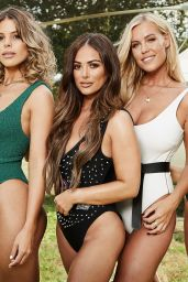 """Chloe Meadows, Chloe Lewis, Courtney Green, Cleilia Theodorou - """"The Only Way Is Essex"""" TV Show Pool Party in Essex, August 2018"""