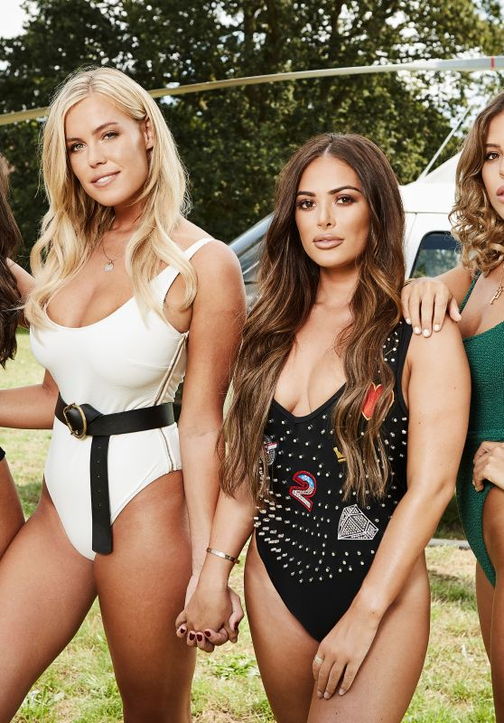 "Chloe Meadows, Chloe Lewis, Courtney Green, Cleilia Theodorou - ""The Only Way Is Essex"" TV Show Pool Party in Essex, August 2018"