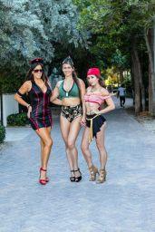 Claudia Romani, Melissa Lori and Anais Zanotti - Celebrating Halloween on South Beach, Miami 10/28/2018