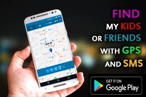 Find my kids or friends with GPS and SMS