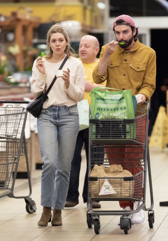 Elizabeth Olsen and Robbie Arnett Grocery Shopping at Whole Foods in LA 10/21/2018