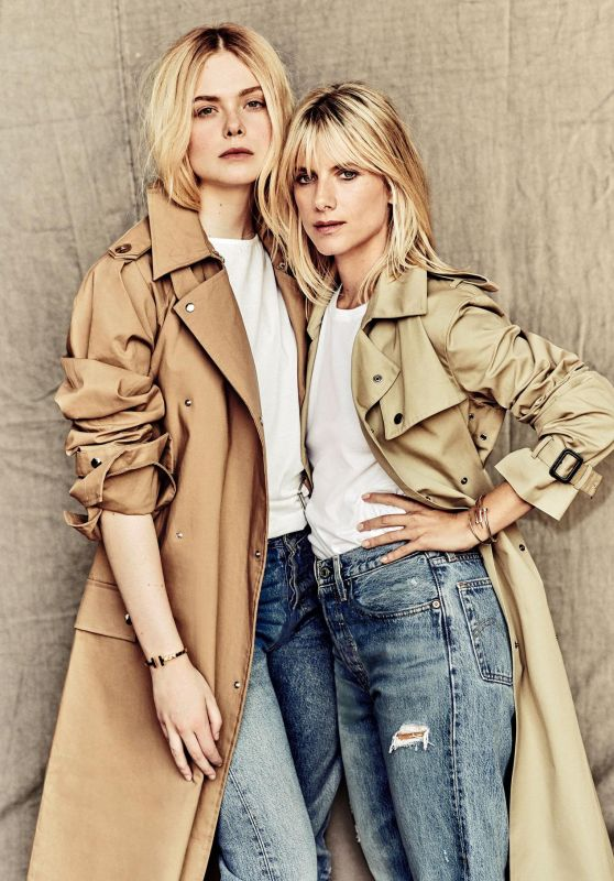 Elle Fanning and Mélanie Laurent - Madame Figaro October 2018