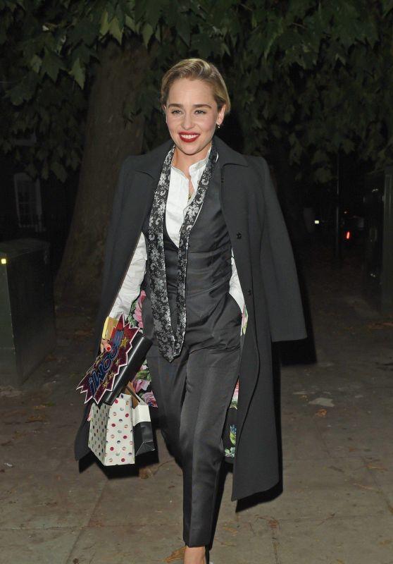 Emilia Clarke Night Out Style 10/20/2018