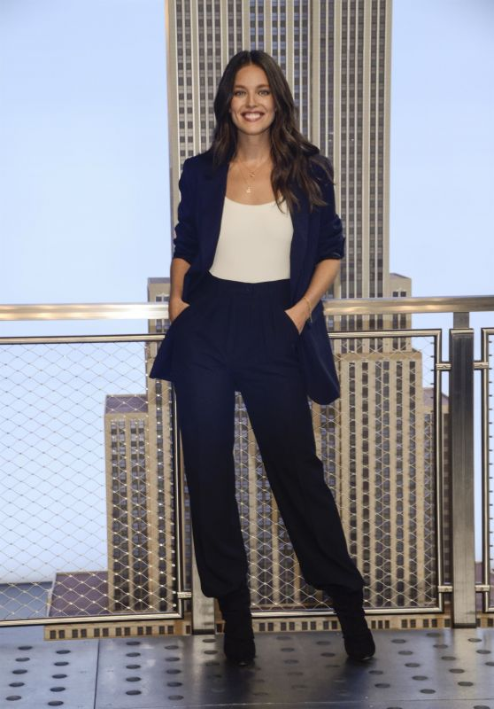 Emily DiDonato at the Lighting of the Empire State Building in NYC 10/04/2018