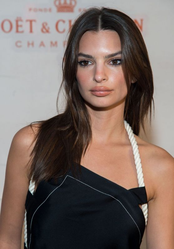 Emily Ratajkowski – Moet & Chandon and Virgil Abloh New Bottle Collaboration Launch in NYC
