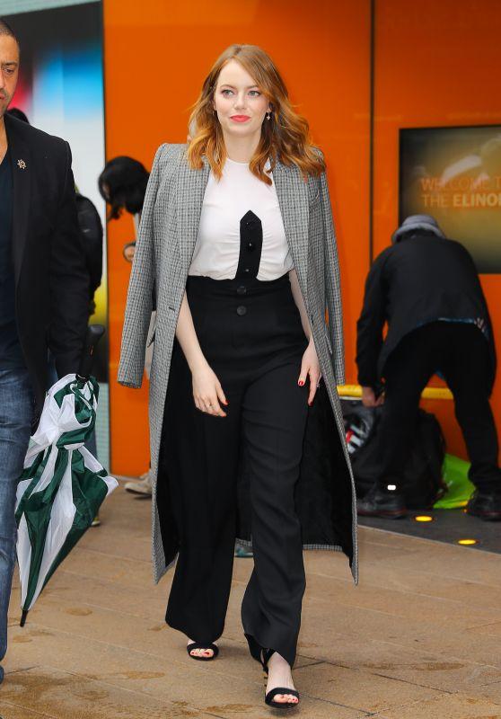 Emma Stone - Leaving a Restaurant in New York 10/02/2018