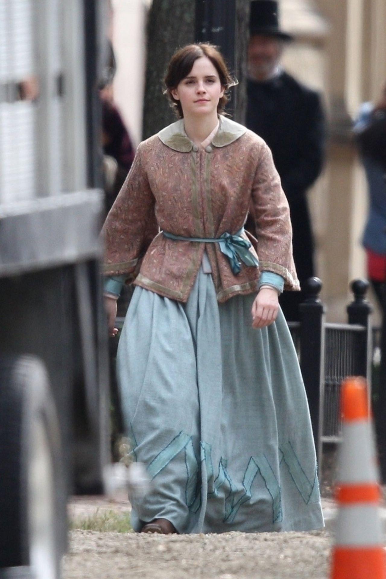 Emma Watson Quot Little Women Quot Set In Boston 10 07 2018