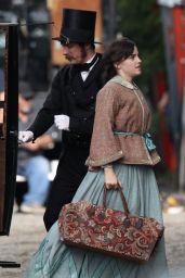 """Emma Watson - """"Little Women"""" Set in Boston 10/07/2018"""