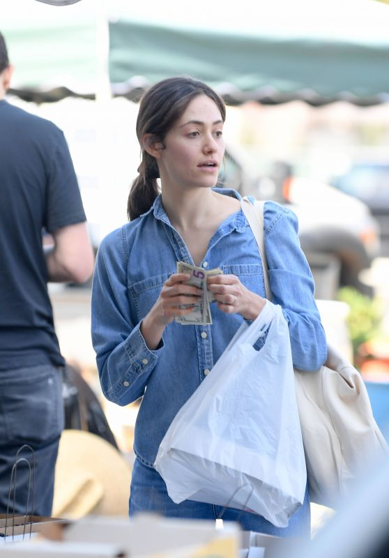 Emmy Rossum - Shopping at the Farmers Market in Beverly Hills 10/07/2018