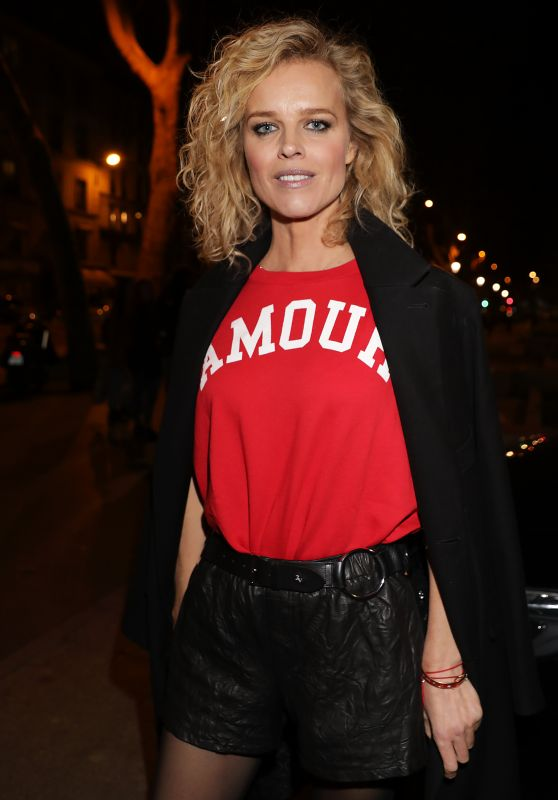 Eva Herzigova - Leaving The Zadig & Voltaire Show in Paris 09/29/2018