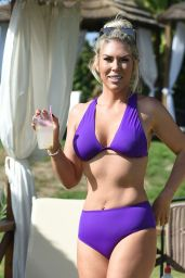 Frankie Essex in Purple Bikini on Holiday in Cyprus 10/02/2018