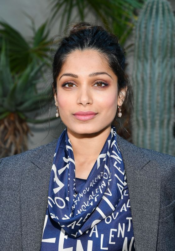 Freida Pinto – Valentino Fashion Show in Paris 09/30/2018
