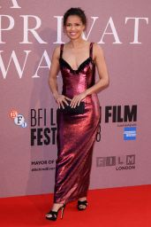 "Gugu Mbatha-Raw - ""A Private War"" Premiere at BFI London Film Festival"