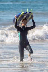 Hailey Clauson - Beach in Malibu 10/19/2018