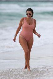 Imogen Thomas in Swimsuit on the Beach in Miami 10/02/2018