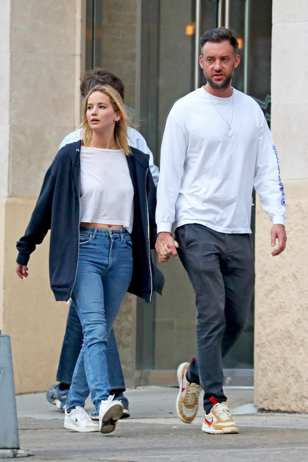 Jennifer Lawrence and Cooke Maroney in NYC 10/02/2018
