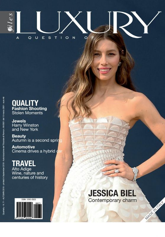 Jessica Biel - Luxury Files Magazine Autumn 2018