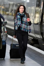 Julia Goulding at Train Station in Manchester 10/22/2018