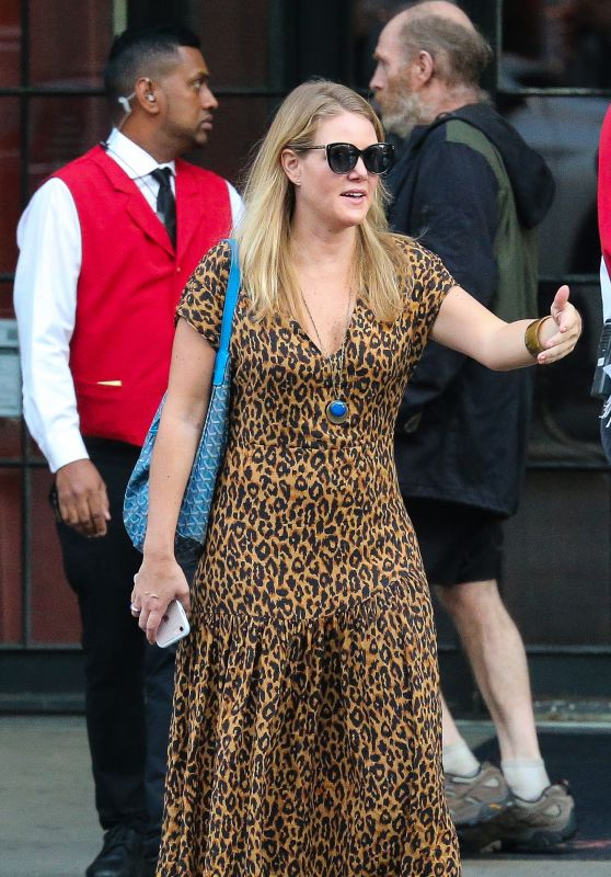 Julia Stiles - Leaving a Hotel in NYC 09/30/2018