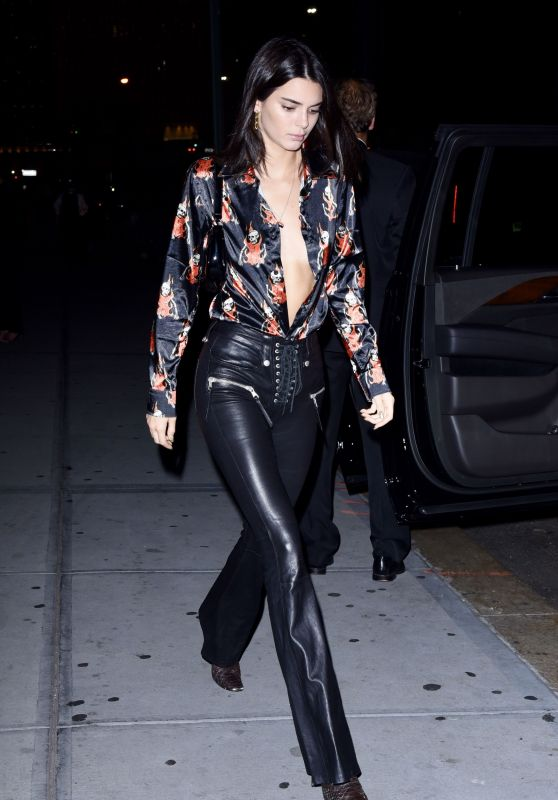 Kendall Jenner Night Out Style - Nobu in NY 10/10/2018