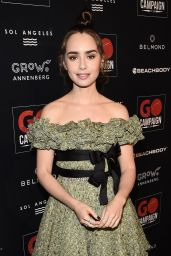 Lily Collins - GO Campaign Gala in Los Angeles 10/20/2018