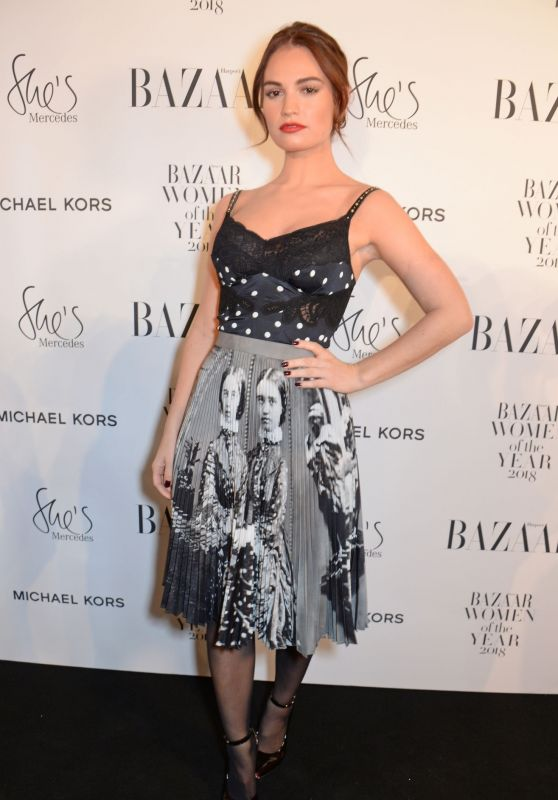 Lily James – Harper's Bazaar Women Of The Year Awards 2018