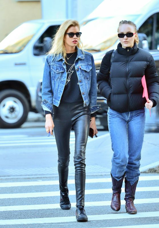 Lily-Rose Depp and Stella Maxwell Out in New York 10/25/2018