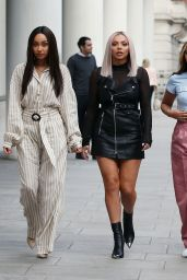Little Mix Arriving at BBC Radio One in London 10/11/2018